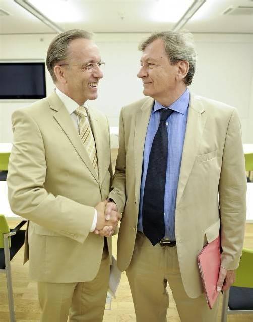 AK-Präsident Tumpel (r.) und sein designierter Nachfolger Kaske.