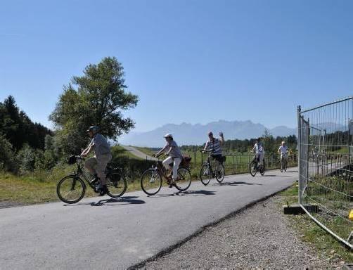 Aufgrund der Kraftwerksarbeiten sind mehrere Radwege gesperrt.