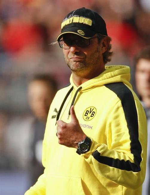 BVB-Trainer Jürgen Klopp freut sich auf die Champions League. Reuters