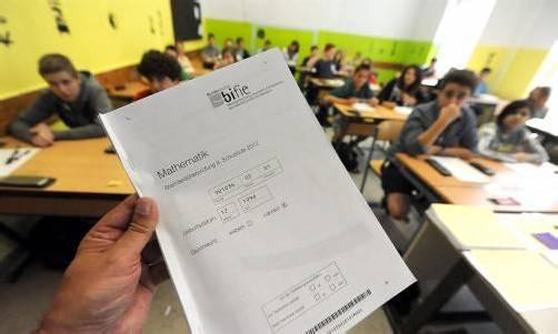 Im Mai war Testtag in allen Klassen der achten Schulstufe Österreichs. Die Schüler mussten mathematische Aufgaben lösen. Foto: APA