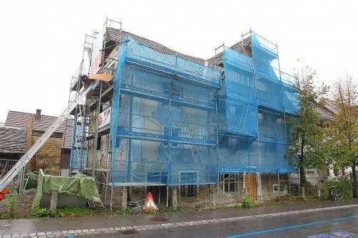 Das ehemalige jüdische Armenhaus in Hohenems wird gerade renoviert. Foto: VN/Hofmeister