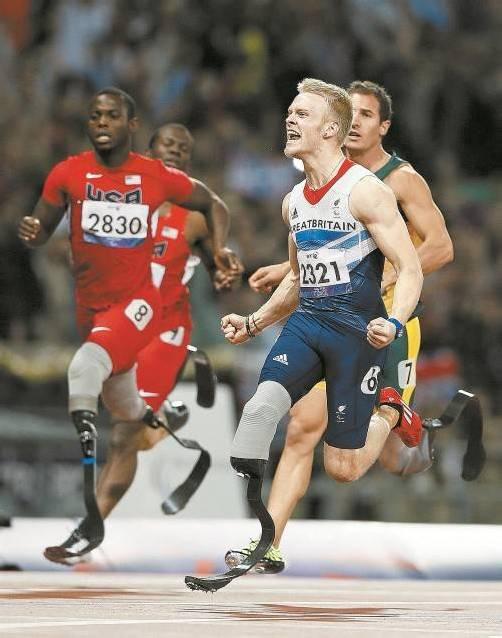 Der 19-jährige Jonnie Peacock lief im 100-m-Sprint bei den Paralympics mit 10,90 Sekunden eine neue Weltbestmarke. Foto: epa