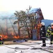 Stall auf der Fluh durch Feuer komplett zerstört