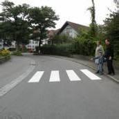 Negrellistraße mit neuem Schutzweg