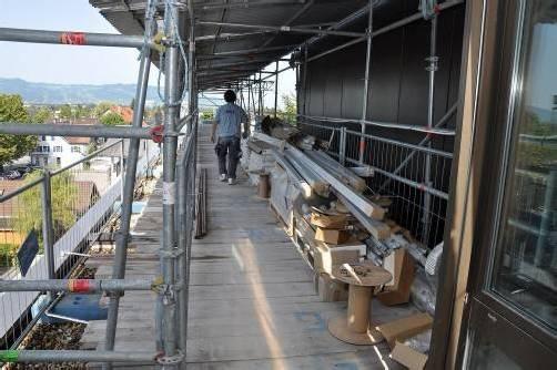 Die Bauarbeiten werden bei laufendem Betrieb über einen äußeren Zugang durchgeführt. Foto: lcf