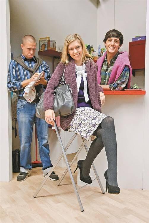 Die Hauptdarsteller Yilmaz Bayraktar, Florian Prokopez und Jessica Matzig in ihren Vintage-Outfits. Fotos: Philipp Steurer