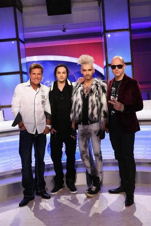 Die Jury: (v.li.) Dieter Bohlen, Tom Kaulitz, Bill Kaulitz und Mateo