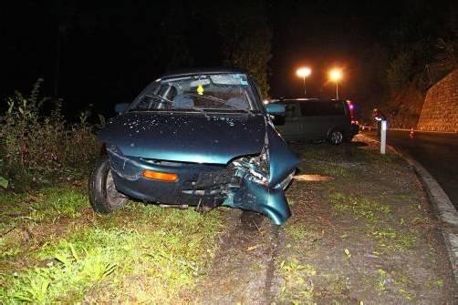Die Polizei fand nur das leere Autowrack vor. Foto: vol.at/pletsch