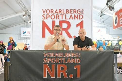 Die Triebfedern des Vorarlberger Sportkonzepts: Sportlandesrat Siegi Stemer und Martin Keßler (Sportservice Vorarlberg GmbH). Foto: steurer