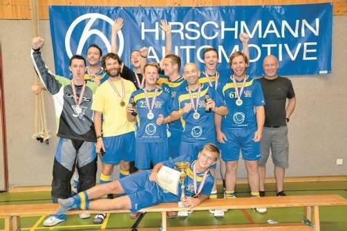 Die erste Mannschaft des UHC Vikinger Götzis holte sich ohne Niederlage den nationalen Kleinfeld-Titel. Foto: Privat