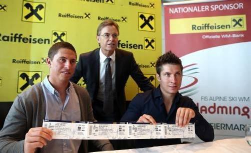 Die ersten WM-Tickets tragen die Unterschrift von Marcel Hirscher. Foto: apa