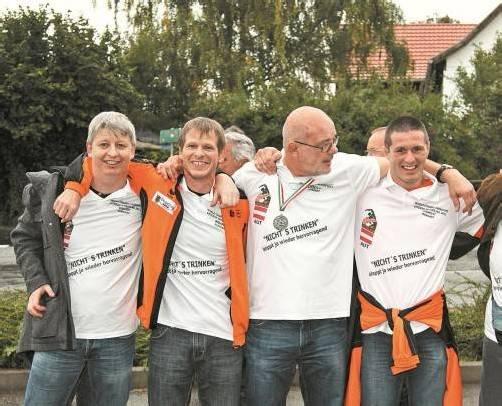 Die vier Hörbranzer WM-Teilnehmer (v. l.): Werner Schuh, Dietmar Schuh, Dietmar Jeglic und Thomas Jochum. Foto: Schwämmle