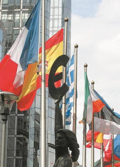EU-Parlament in Brüssel: Vertrauen in Institutionen sinkt. Foto: EPA