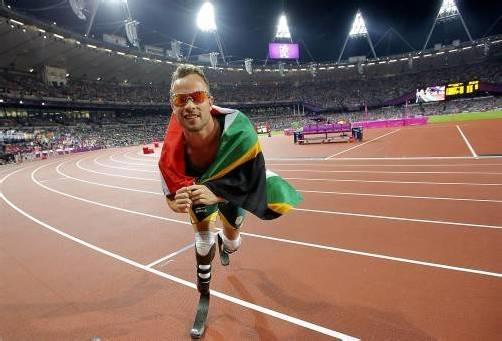 Ehrung der besonderen Art für Läufer Oscar Pistorius. Foto: ap