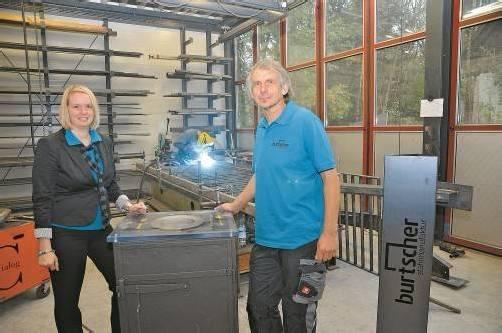 Elisabeth und Albert Burtscher setzen verstärkt auf Designprodukte aus Stahl. Fotos: VN/Gasser