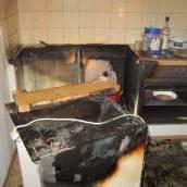 Höchst: Feuer in der Küche