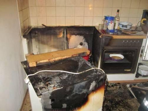 Führte zu Wohnungsbrand: technischer Defekt in der Küche.