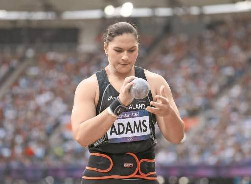 Gold-Zeremonie in Auckland: Valerie Adams. Foto: ap