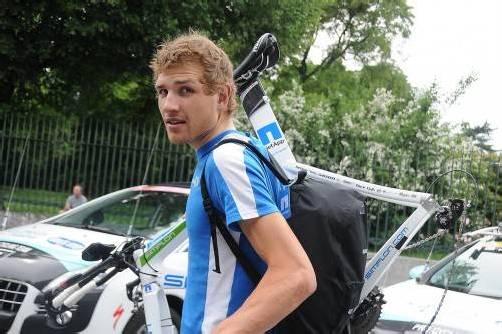 Hat seine Sachen für die WM gepackt: Der Hohenemser Matthias Brändle startet am Sonntag im Straßenbewerb. Foto: kaufmann-pauger