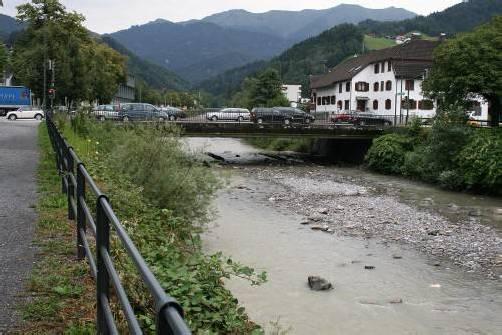 Hochwasserschutzmaßnahmen bei Sägerbrücke vorgesehen.