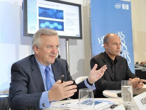 IT-Manager Rudolf Kemler (links) wurde gestern als neuer ÖIAG-Chef vom Aufsichtsrat präsentiert. Foto: ap