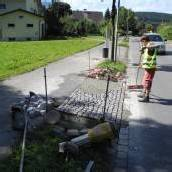 Schutzwege bereits im Bau