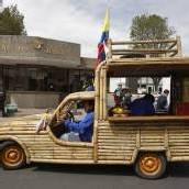 Fahrzeug aus Bambus