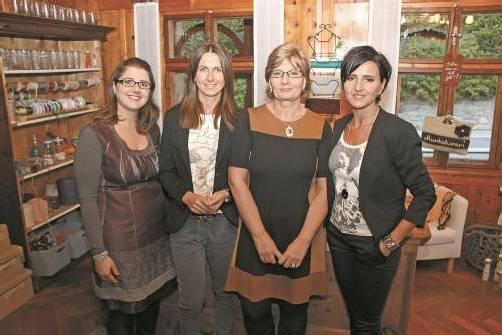 Katrin Vonbank, Nicola Zudrell, Ulli Bartenbach und Isolde Dietrich (v.l.). Foto: VN/M. Zudrell