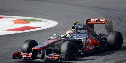 Lewis Hamilton mit seinem McLaren-Mercedes. Foto: reuters