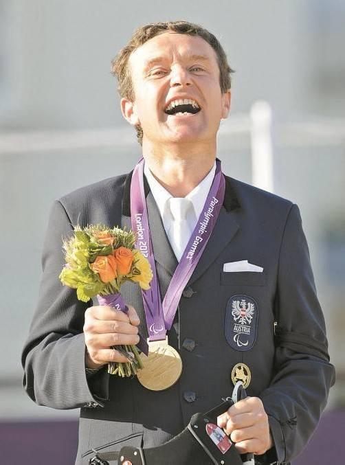 Nach Bronze am Vortag wurde Pepo Puch Olympiasieger. Foto: ap