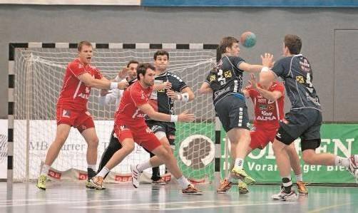 Nach einem glücklichen 25:24-Heimsieg gegen Vizemeister HIT Tirol steht Champion Alpla HC Hard wieder auf Position eins in der Handball-Liga Austria. Foto: Hartinger