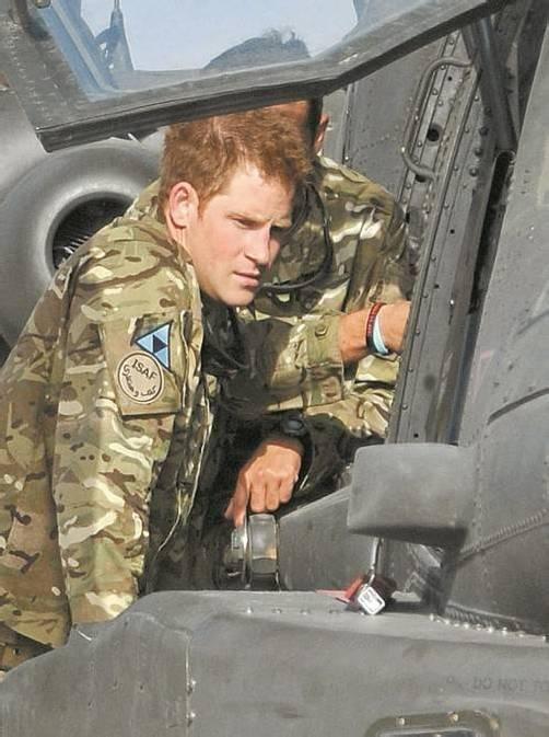Prinz Harry gerät ins Visier der Taliban. Foto: EPA