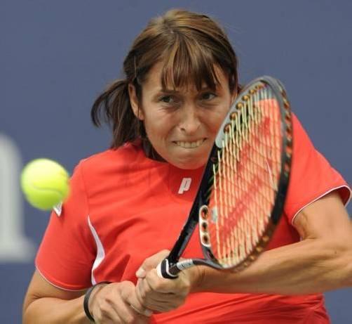 Steht im Viertelfinale: Yvonne Meusburger. Foto: ap