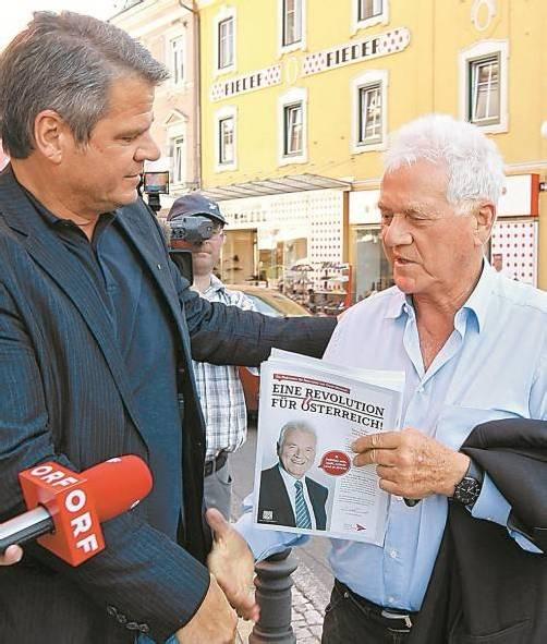 Stronachs Politikambitionen polarisieren. foto: apa