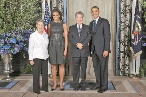 Treffen am Rande der Vollversammlung: Barack Obama (r.) mit Heinz Fischer und den First Ladys Michelle und Margit (l.). Foto: APA