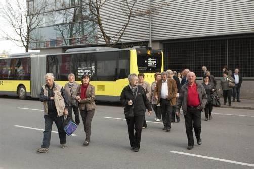 """Umweltfreundliche Anreise mit den """"Öffis"""". Foto: VN/Paulitsch"""