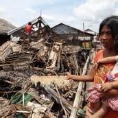 Schäden nach Erdbeben auf den Philippinen