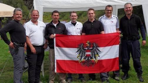 Vorarlbergs EM-Teilnehmer und Medaillengewinner v. l.: Dietmar Huber, Andreas Stoderegger, Armin Spejra, Walter Selb, Georg Hochegger, Markus Berger und Markus Heim. Foto: verein