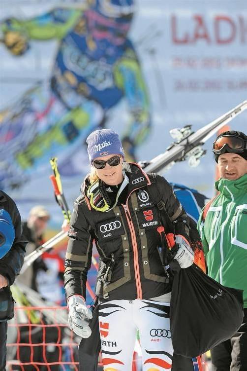 War nach der letzten Saison drauf und dran, dem Skizirkus den Rücken zuzukehren: Maria Höfl-Riesch. Foto: reuters