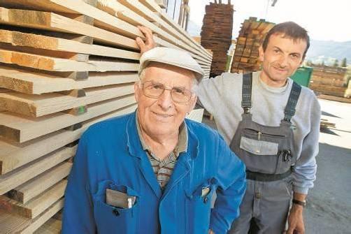 Wenn der Vater mit dem Sohn: Karl Mündle mit dem jetzigen Firmenleiter Georg Mündle. Fotos: philipp steurer