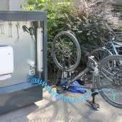 Servicestation für Radfahrer in Feldkirch