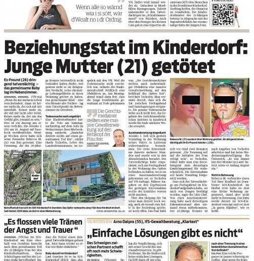 Wie die VN berichteten, hat der Verdächtige im Kinderdorf-Mordfall ein Geständnis abgelegt. Weil er kein Geld hat, bekommt er nun Verfahrenshilfe.