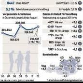 Zahl der Arbeitslosen im Land auf 8447 gestiegen