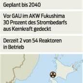 Japan will bis 2040 aus der Atomenergie aussteigen