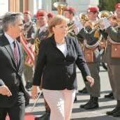 Merkel auf Kurzbesuch in Wien