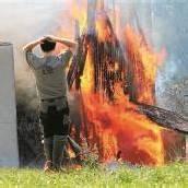Großbrand auf dem Sieber-Hof in Bregenz-Fluh