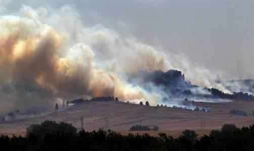Über 60 Gebäude wurden bei den Waldbränden im Bundesstaat Nebraska in Mitleidenschaft gezogen. Foto: AP