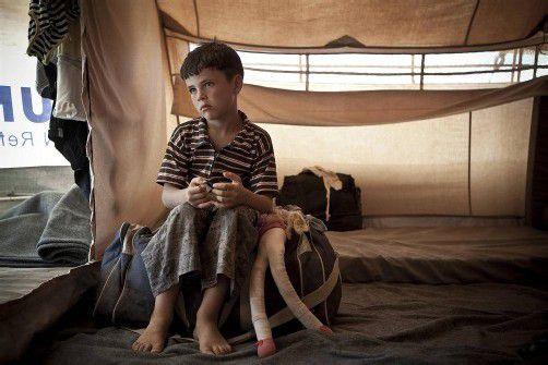 1,2 Millionen Menschen – darunter viele Kinder – mussten in Syrien ihre Häuser verlassen und sind in Notunterkünften untergebracht.  REUTERS