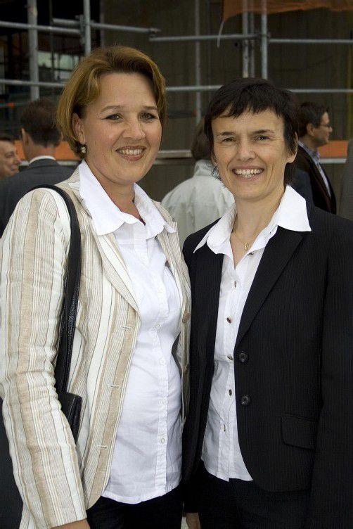 Andrea Kaufmann und Hedwig Natter. Foto: VN