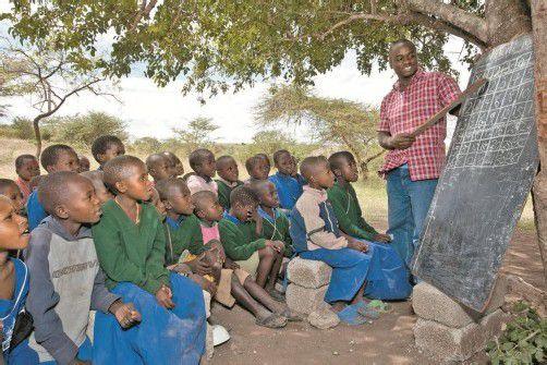Auch Unterricht in den entlegensten Gebieten der Erde wird aus den Spenden finanziert. Foto: Missio